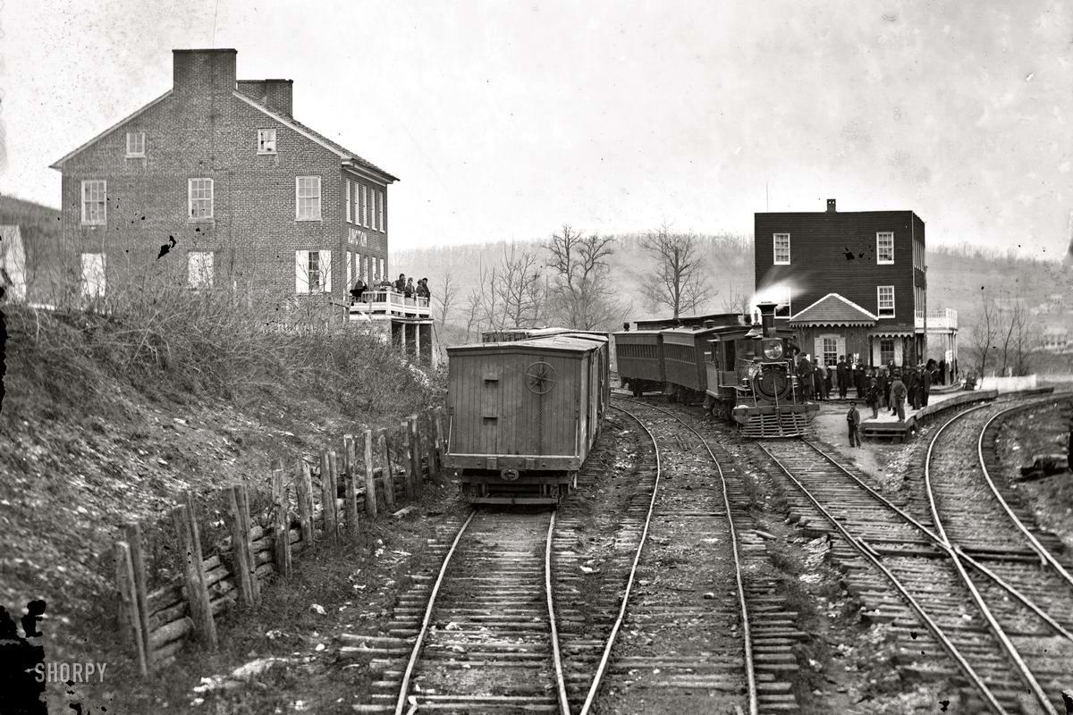 Железные дороги конца 19-го - начала 20-го века на снимках американских фотографов (2)