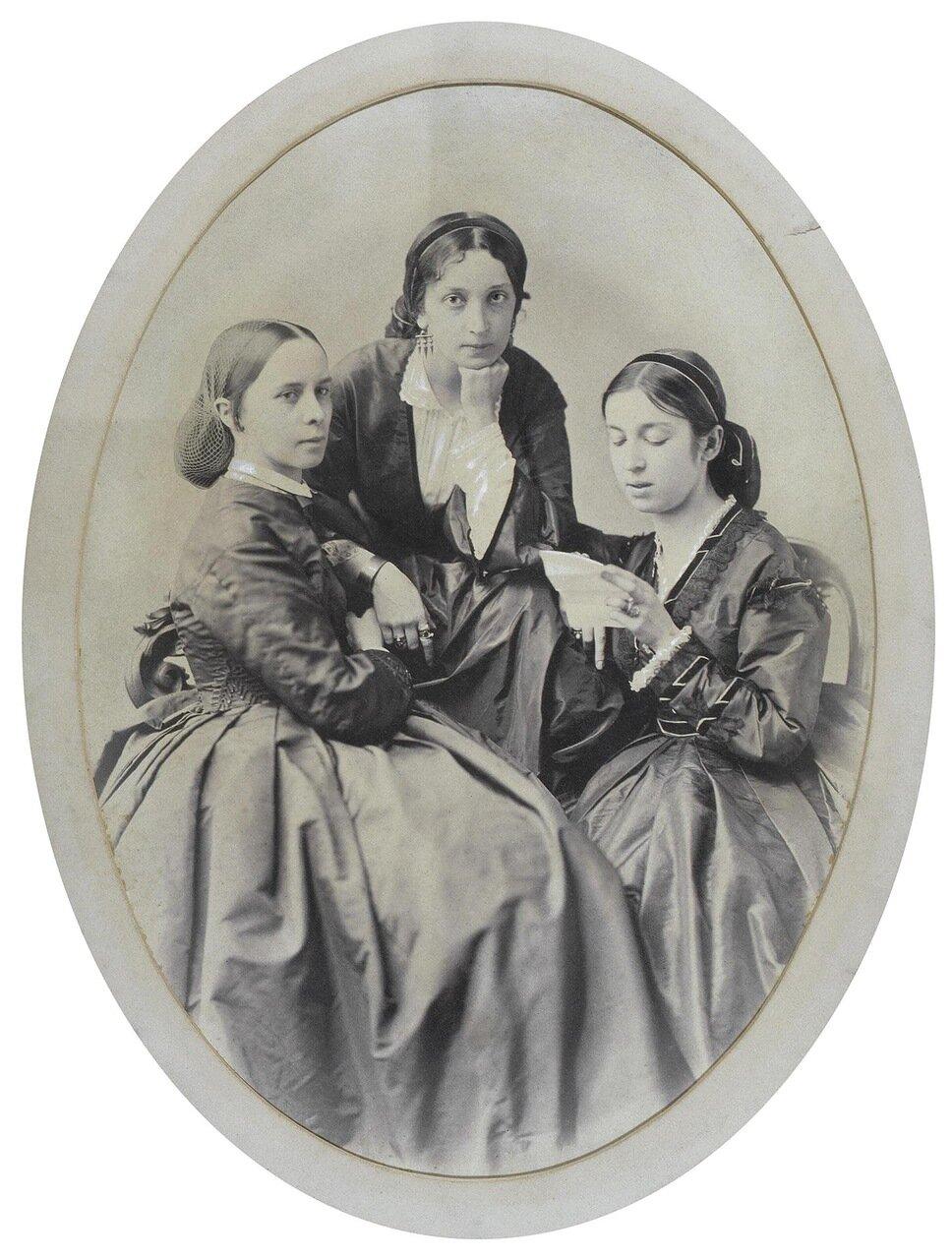 Портрет трех дам. 1860-е