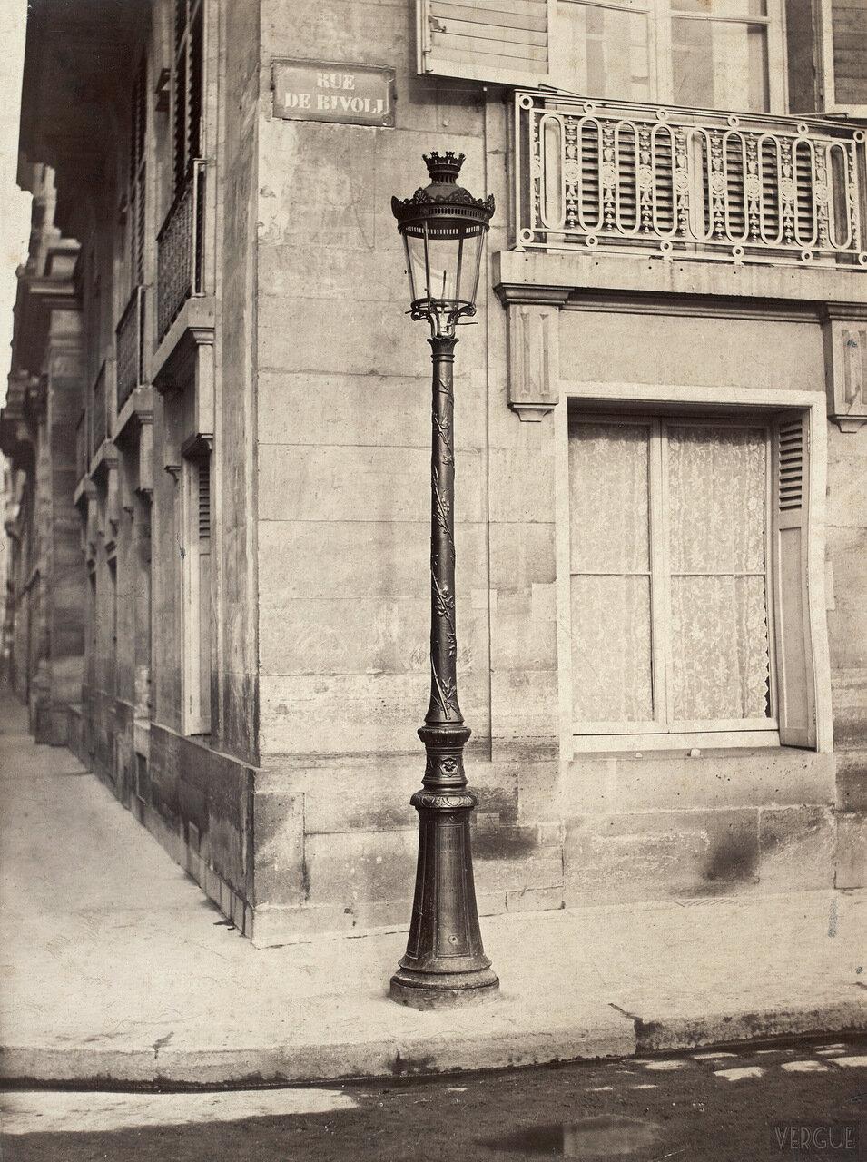 Газовый фонарь модели Одри.   1870