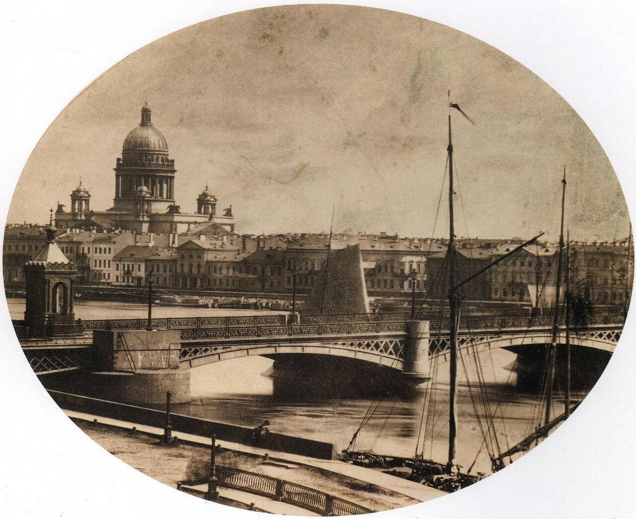 Вид на Николаевский мост и Исаакиевский собор,1880-е