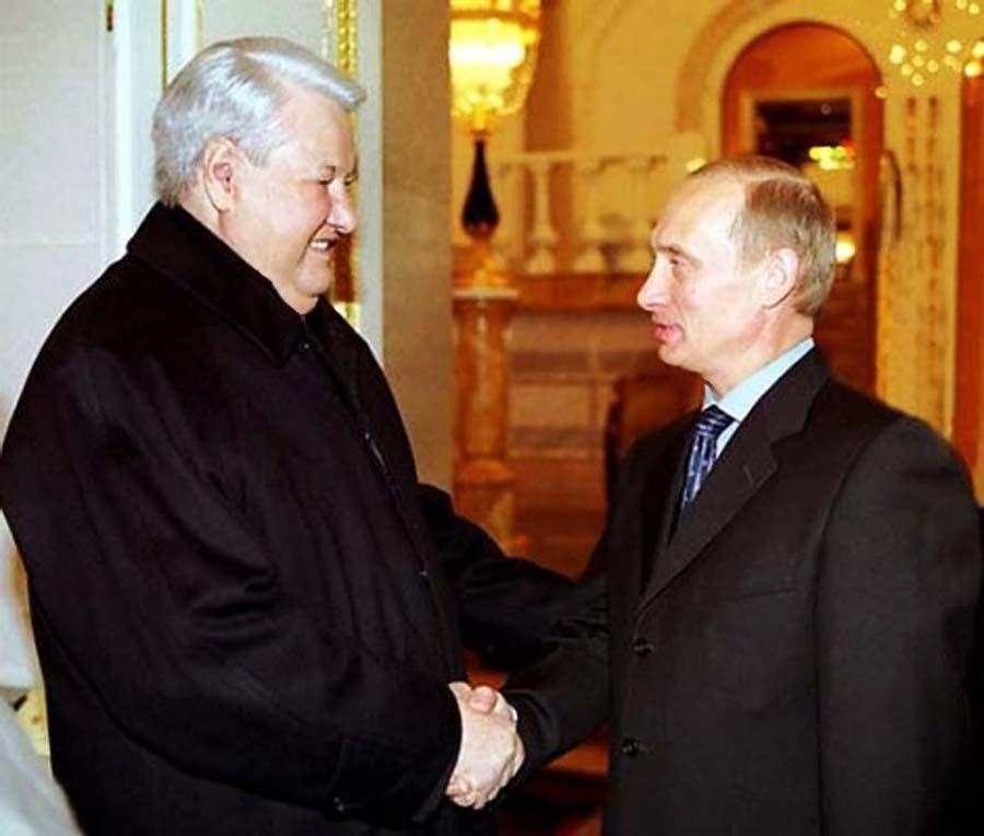 Персональный пенсионер Всекремлёвского значения Борис Ельцин и президент РФ Владимир Путин