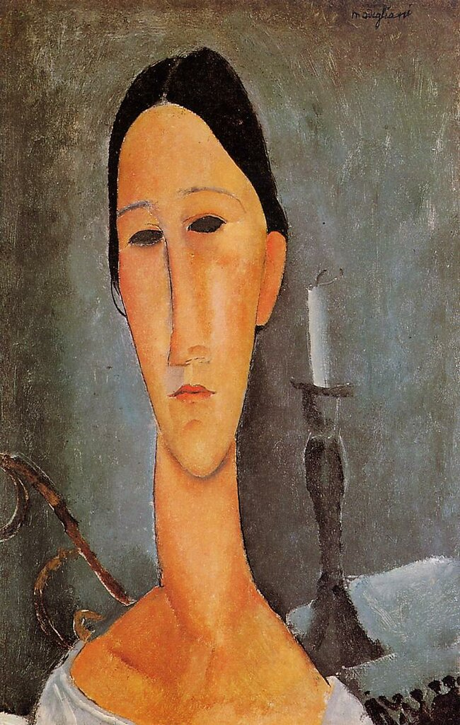 Portrait of Anna Zborowska - 1919 - PC - Painting - oil on canvas.jpeg