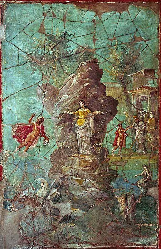 Perseus and Andromeda. Wallpainting