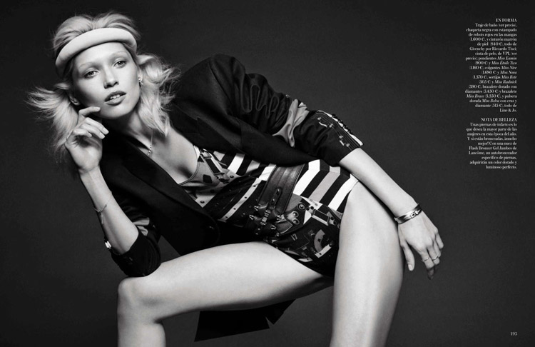 Хана Жирикова в июньском Vogue Spain 2014
