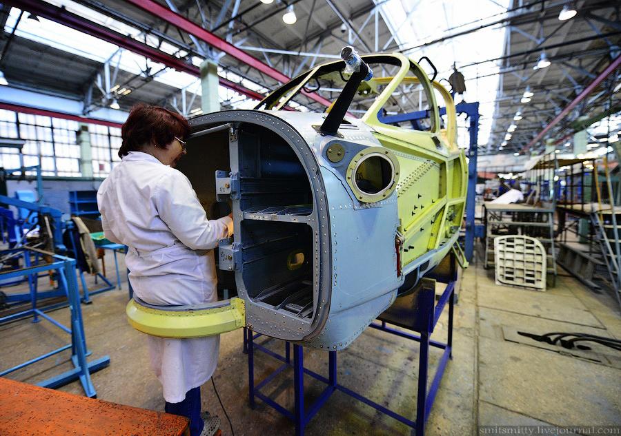 Производство вертолётов Ка-52 (фоторепортаж)