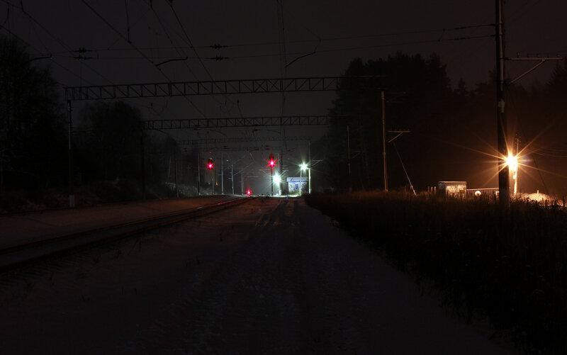 Группа чётных выходных светофоров на станции Лукино