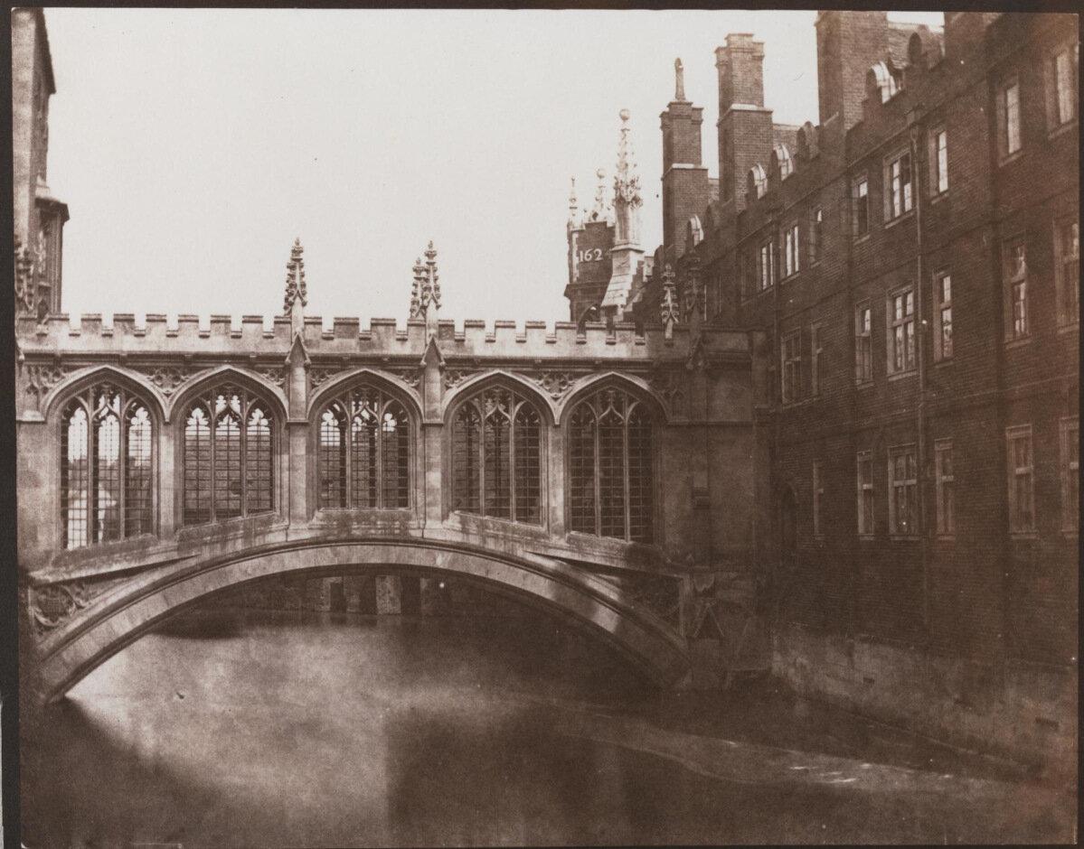 1844. Мост вздохов, колледж Святого Иоанна в Кембридже