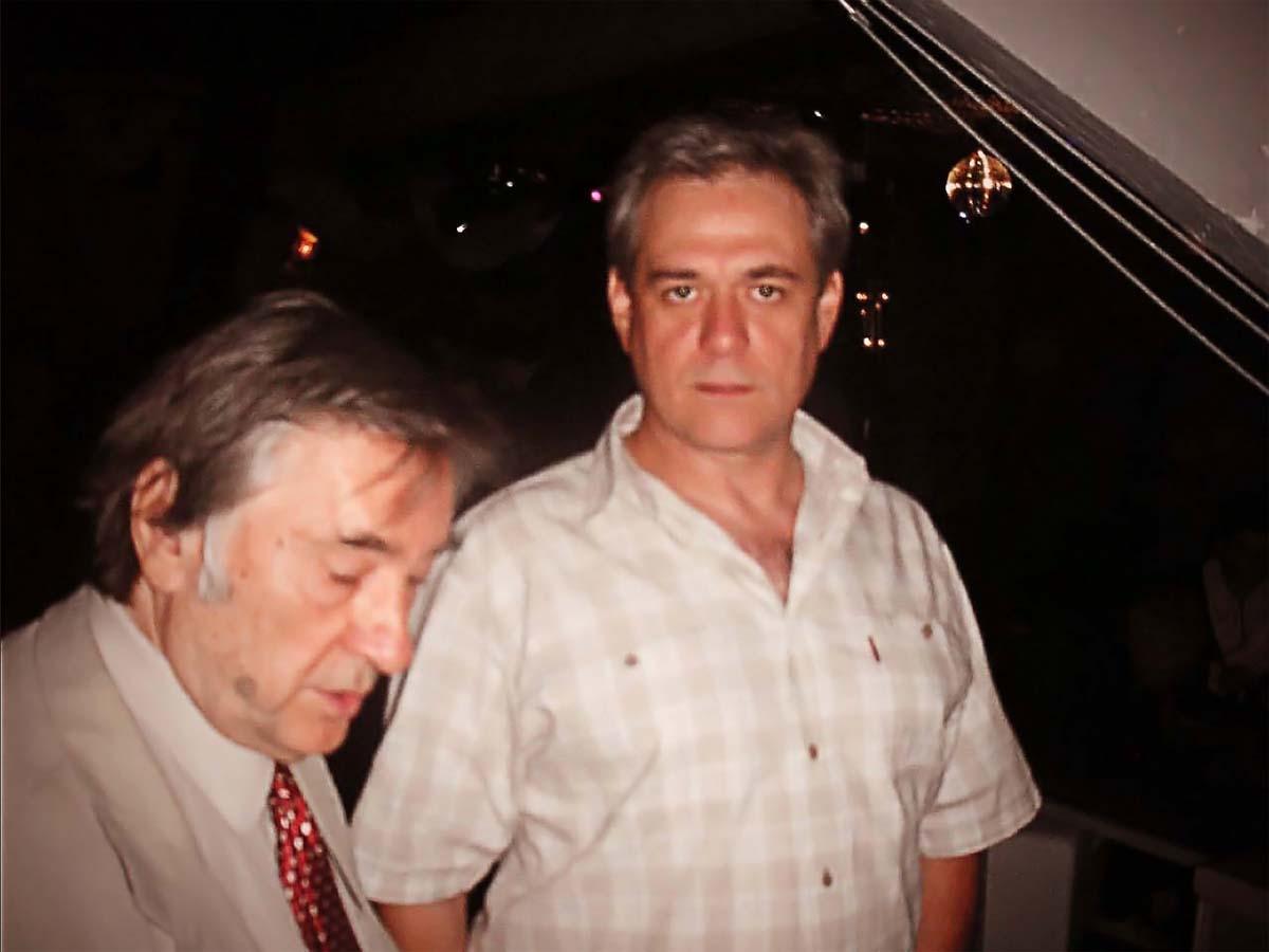 Сергей  Доренко и Александр Проханов  после сеанса проверки тестостерона. 22 августа 2005-го года. Фотограф Александр Плющев.