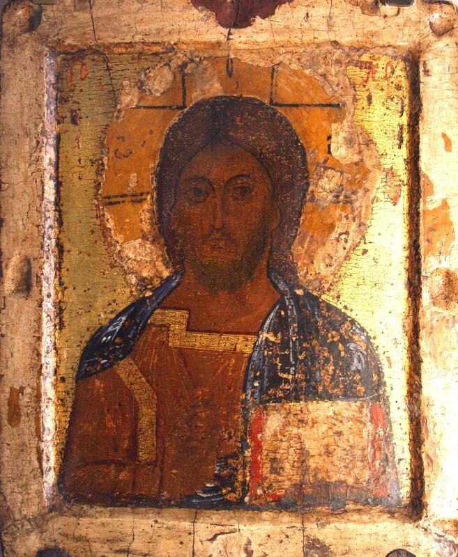 Спас Вседержитель. Икона. Ярославль, начало XIII века.