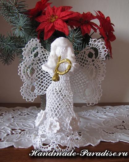 Вязание крючком ажурного ангела
