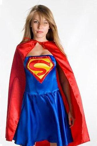 Женский карнавальный костюм Супердевушка