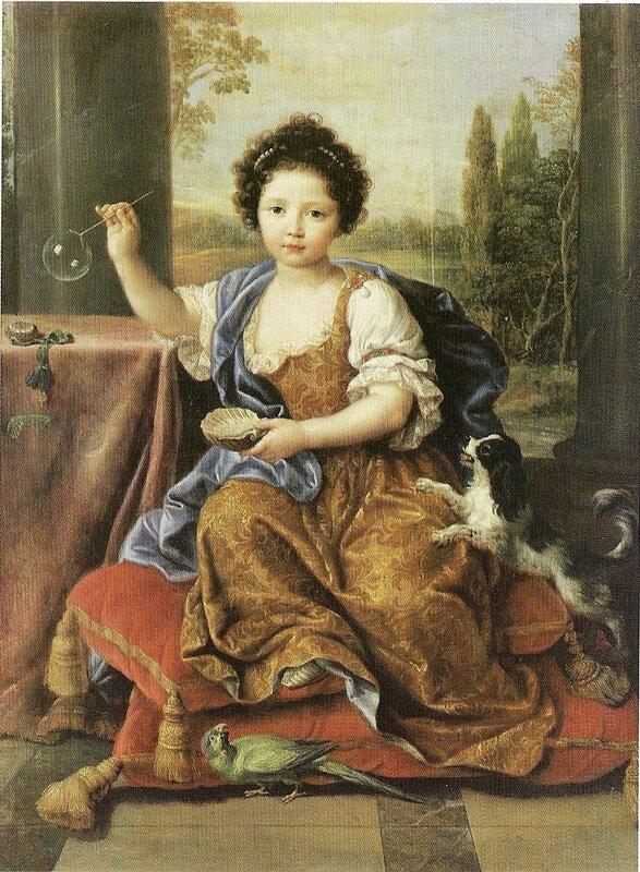 Mignard, Pierre (1612-95) Marie-Anne de Bourbon (1666-1739) Mademoiselle de Blois, Blowing Soap Bubbles
