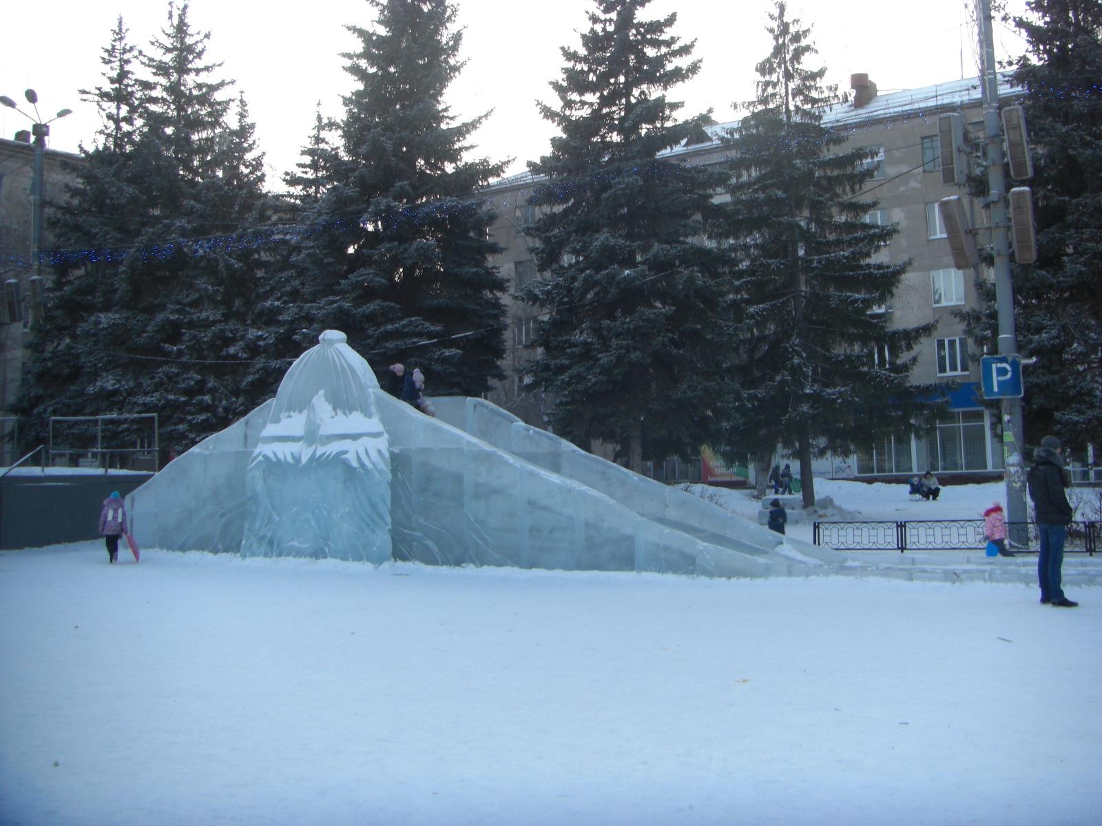 Ледяная горка ЧМЗ Челябинск