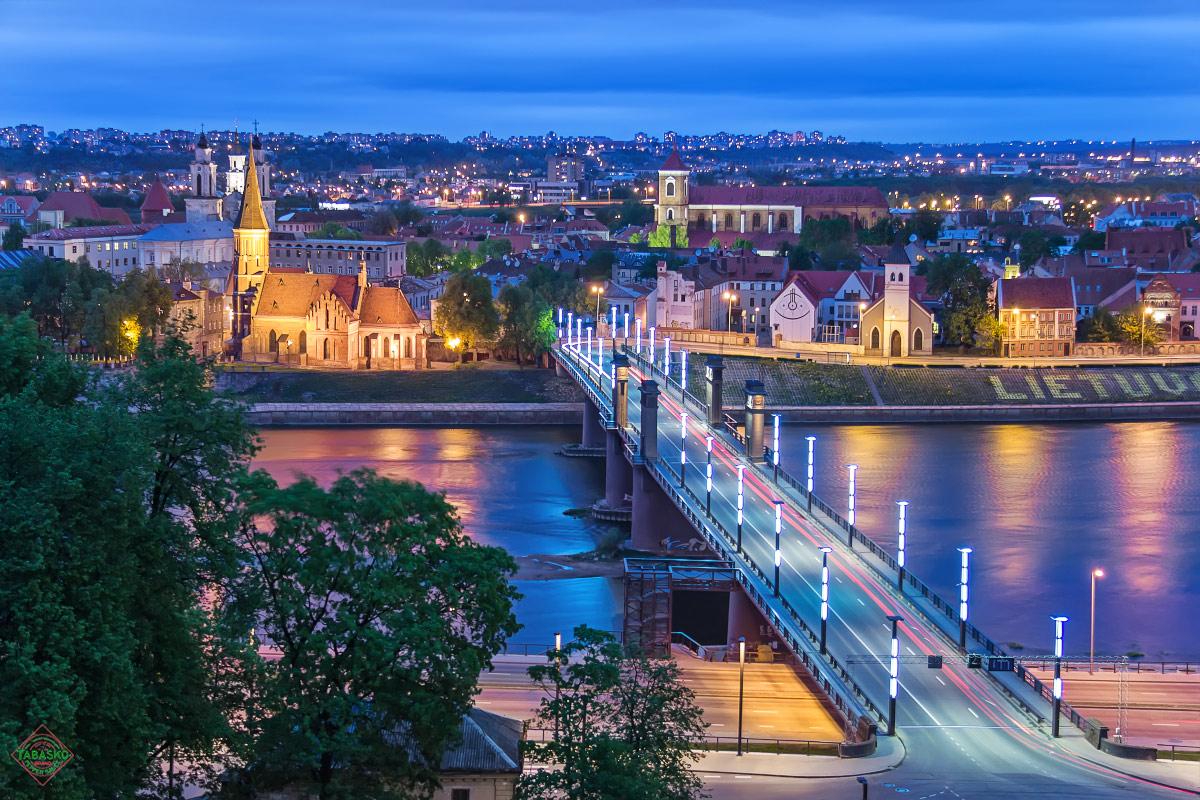 Ночная панорама Каунаса