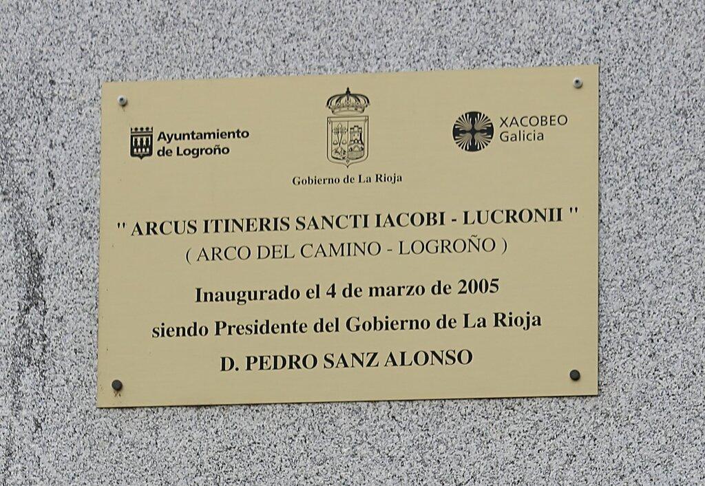 Logrono. Arch of St. James (Arco del Camino de Santiago)