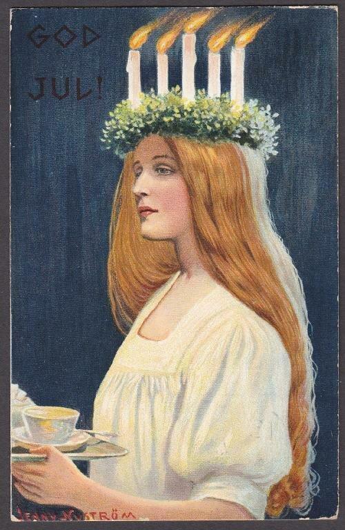 Lucia by Jenny Nyström (1854-1946).