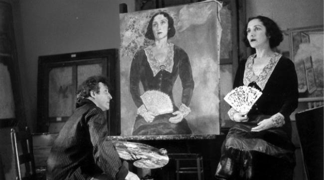Шагал работает над портретом супруги «Белла вЗеленом», 1935г. Марк Шагал прожил долгую жизнь исоз