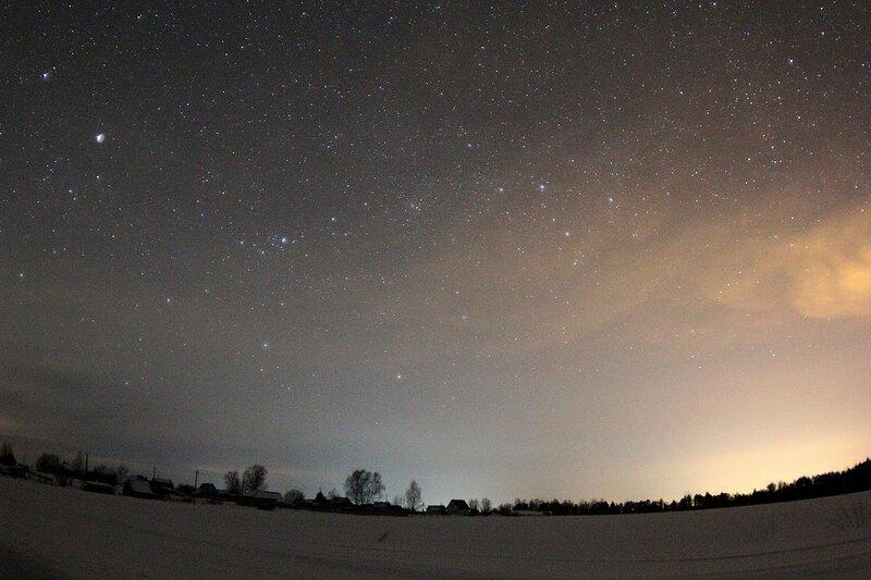 Звёздное небо через фишай-объектив - Астрономический выезд в Жданухино