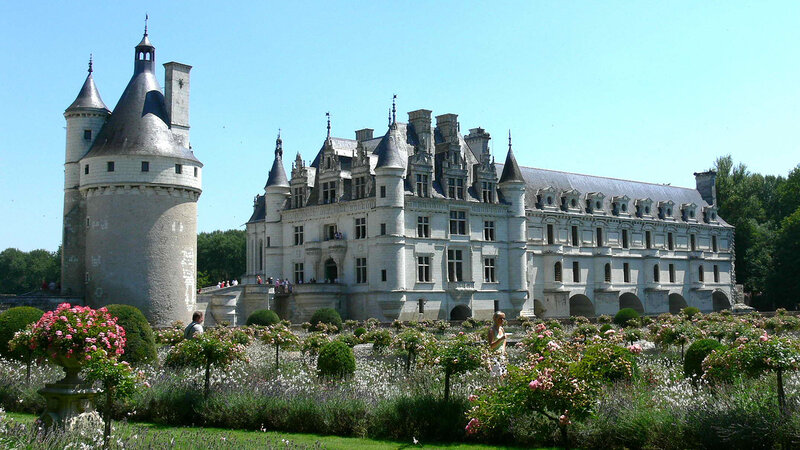 Замок Шенонсо, Франция ( Chenonceau Castle, France )