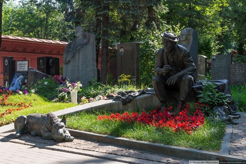 Могила Юрия Никулина на Новодевичьем кладбище