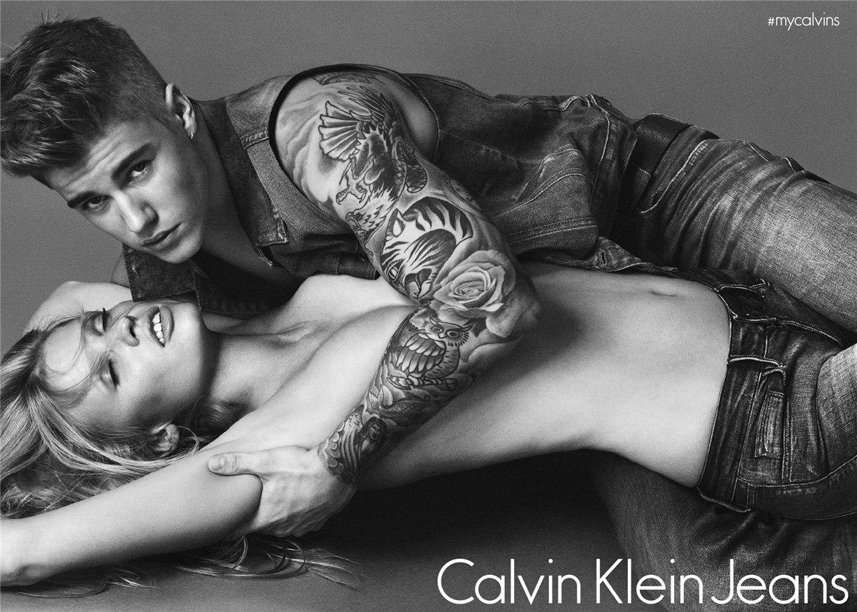 Джастин Бибер и Лара Стоун / Lara Stone & Justin Bieber by Mert Alas & Marcus Piggott for Calvin Klein Jeans & Underwear Spring-Summer 2015