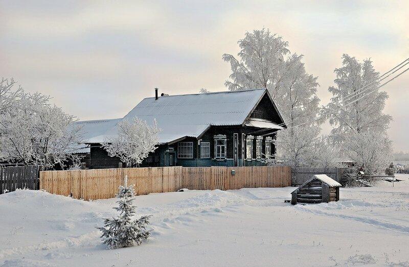 Зима в деревеньке Денесьево