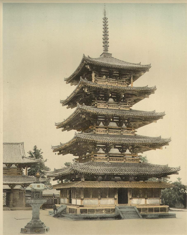 Нара. Пагода в храме Хорю-дзи