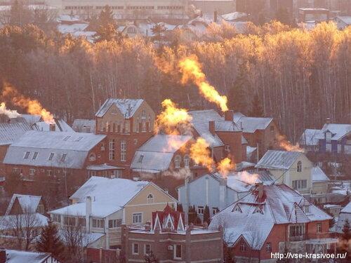 Зима: Мороз и дым