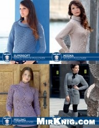 Coat and Leg Warmers, Lace Pullover, Ripple Stitch Pullover, Sporty Pullover