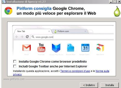 предложение установить Chrome