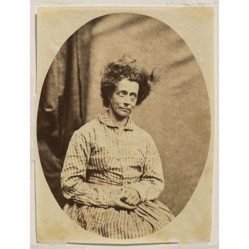 1850-е. Женщина с всклокоченными волосами