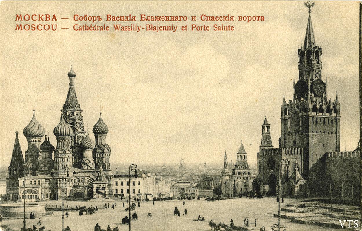 Красная площадь. Собор Василия Блаженного и Спасские ворота