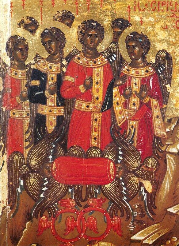 Притча о блудном сыне. Икона XVI века в монастыре Хиландар на Святой Горе Афон. Фрагмент.