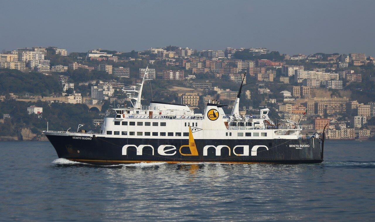 The Gulf of Naples. Naples-Ischia Medmar ferry