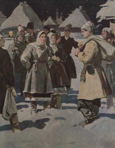 Николай Васильевич Гоголь - Ночь перед Рождеством - Бубнов Александр Павлович, 1950-1951 гг.