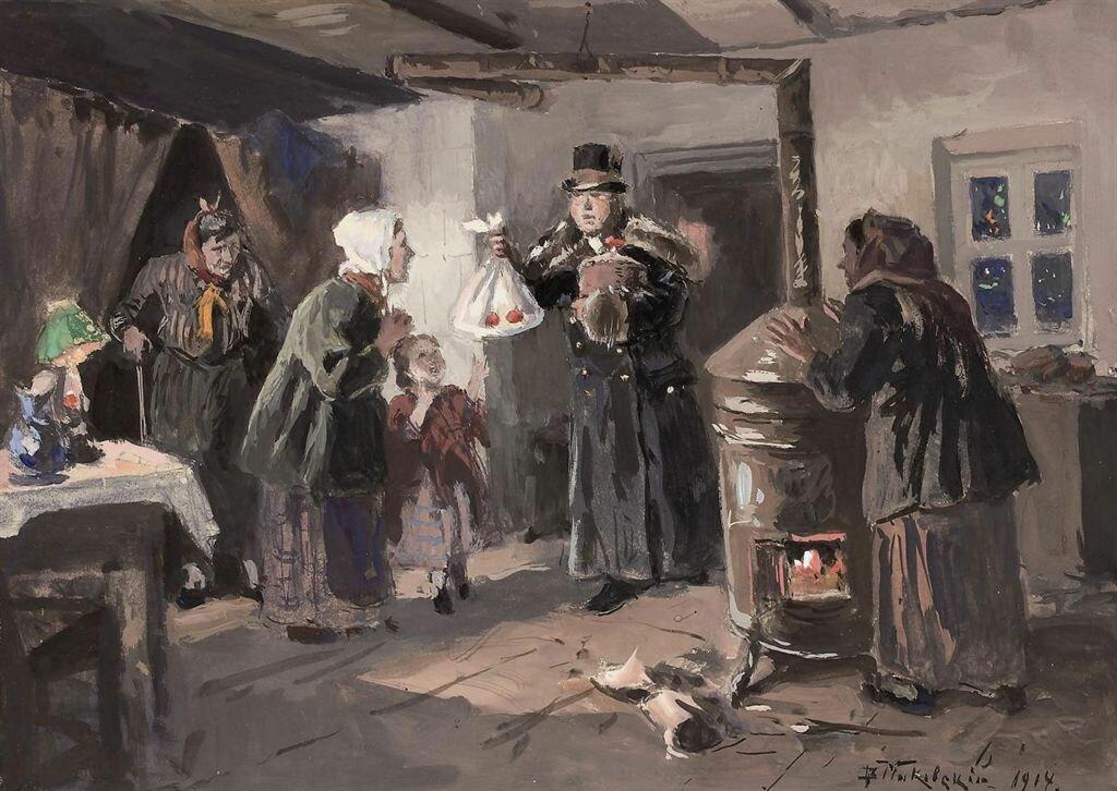 Владимир Егорович Маковский (1846 - 1920) - Пасха, 1914 г. // Vladimir Makovsky - Easter, 1914