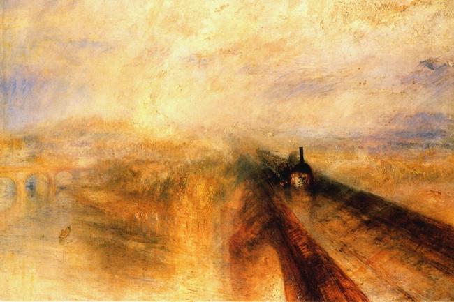 Джозеф Тёрнер, «Дождь, пар искорость», 1844 В1842 году миссис Симон путешествовала напоезде поАн