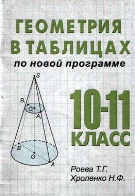 Книга Геометрия в таблицах. 10-11 классы