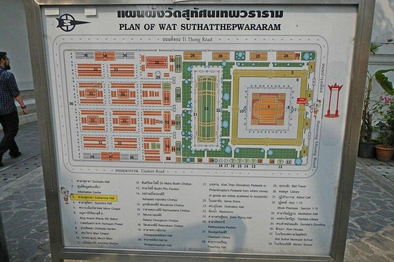 План храма Ват Сутхат (Wat Suthat Thep Wararam)