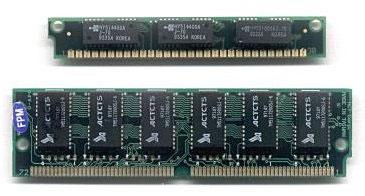 Модули SIMM (30-контактный сверху, 72-контактный снизу)