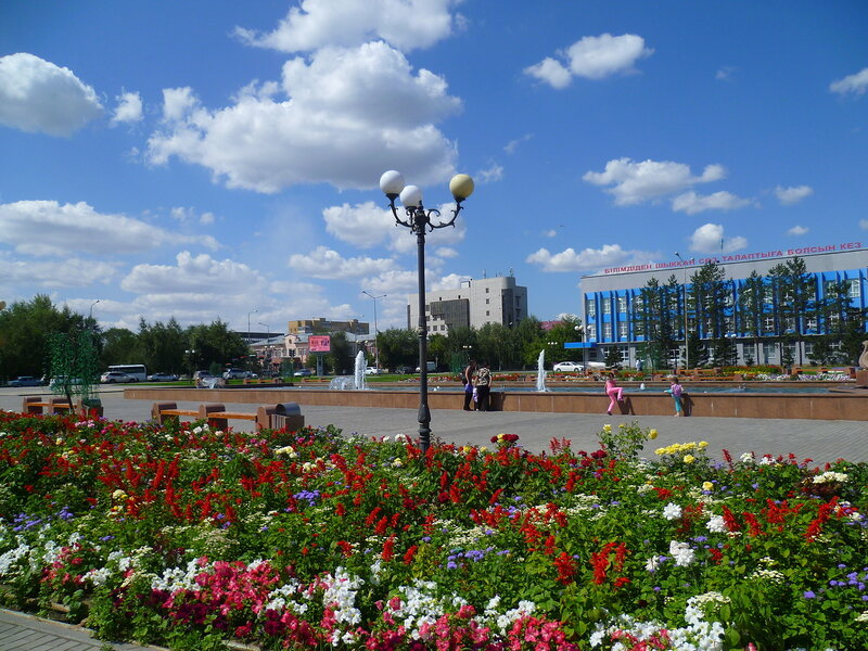 Семипалатинск, площадь Абая (Semipalatinsk, Abay Square)