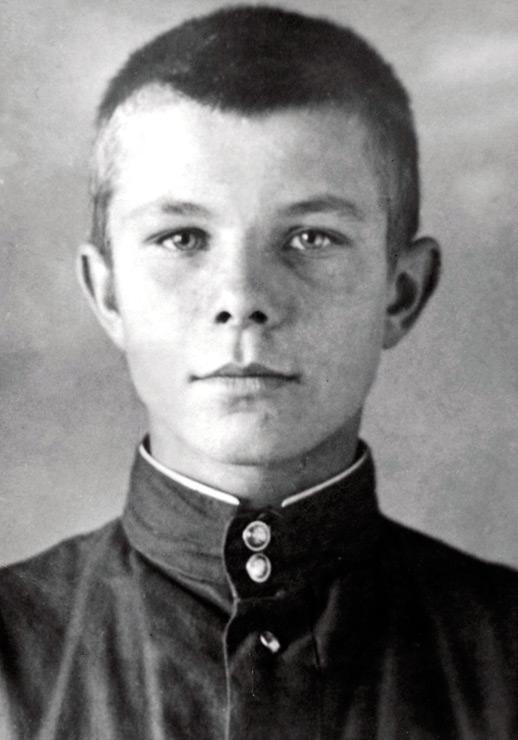 Учащийся Люберецкого ремесленного училища Юра Гагарин