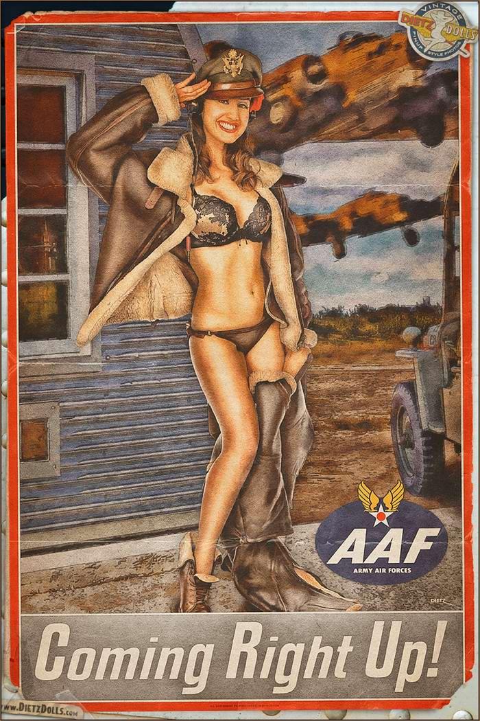 Армейский pin-up в стиле 1940-х годов от американского художника Britt Dietz (20)