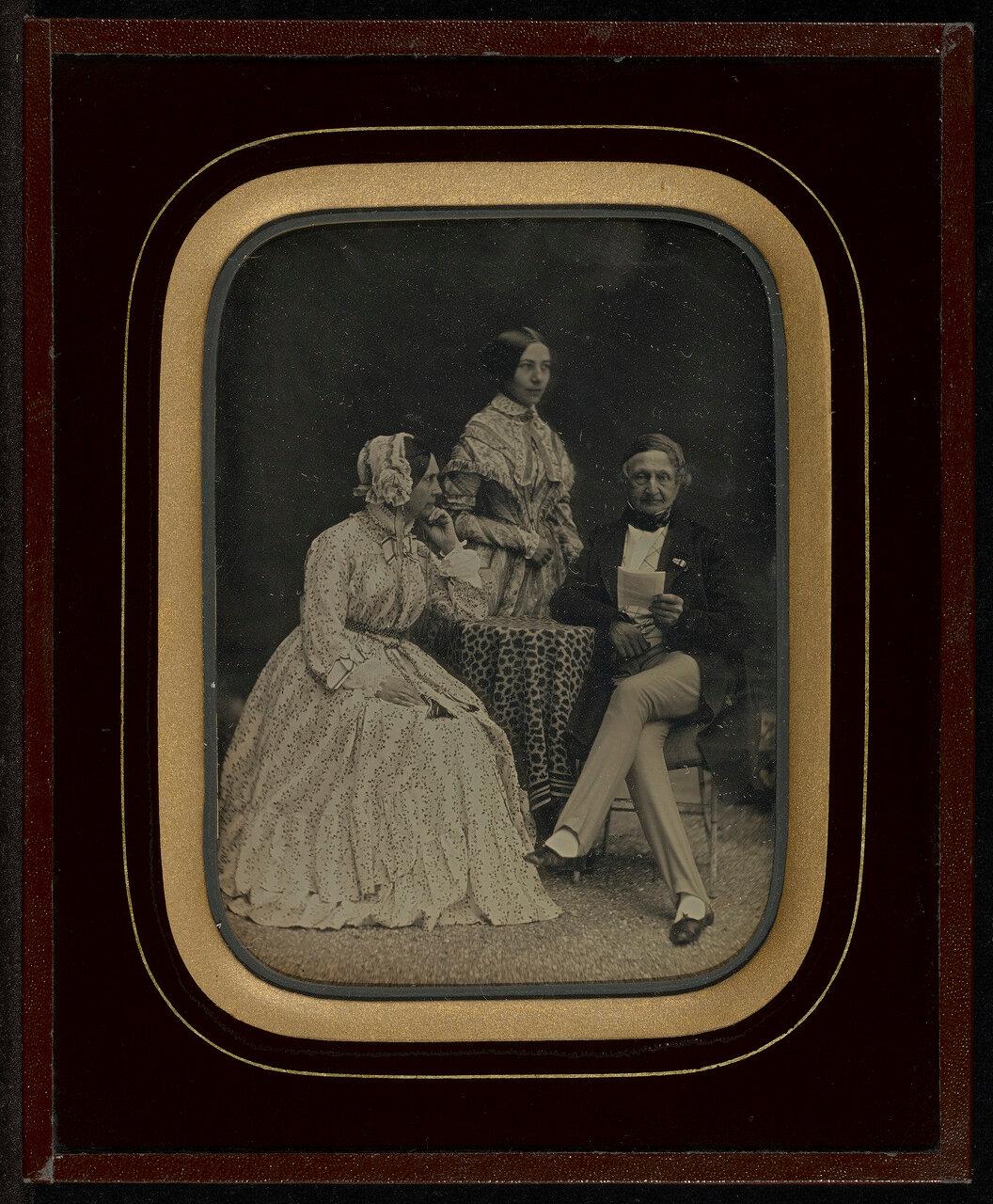 1849. Портрет Жана-Габриэля и Анна Эйнара с мадам Шарьер