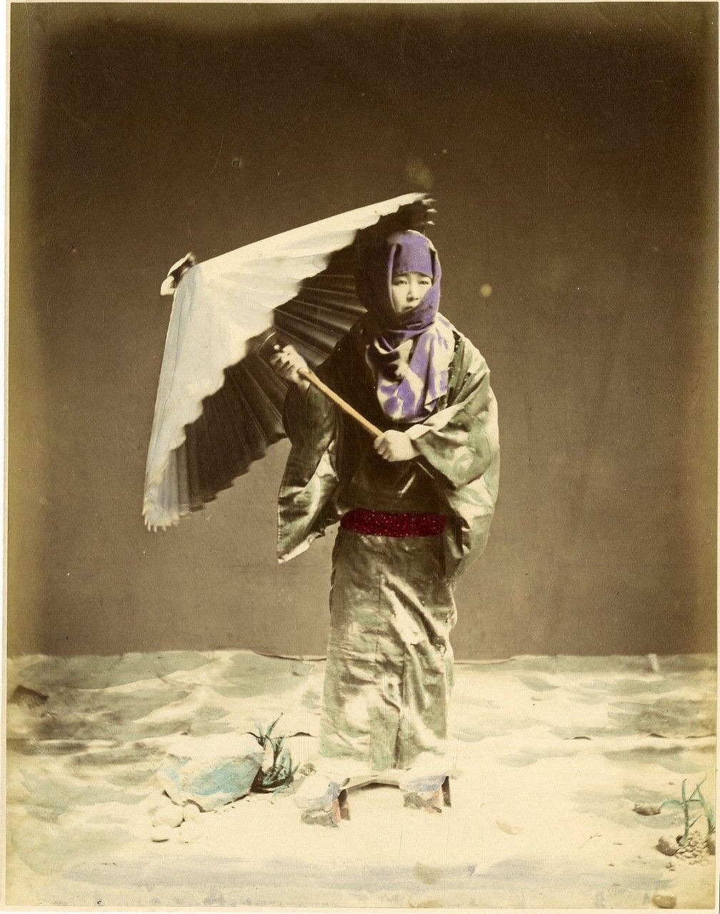 Девушка с зонтиком