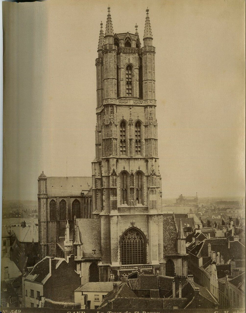 Гент. Башня собора Св. Баво