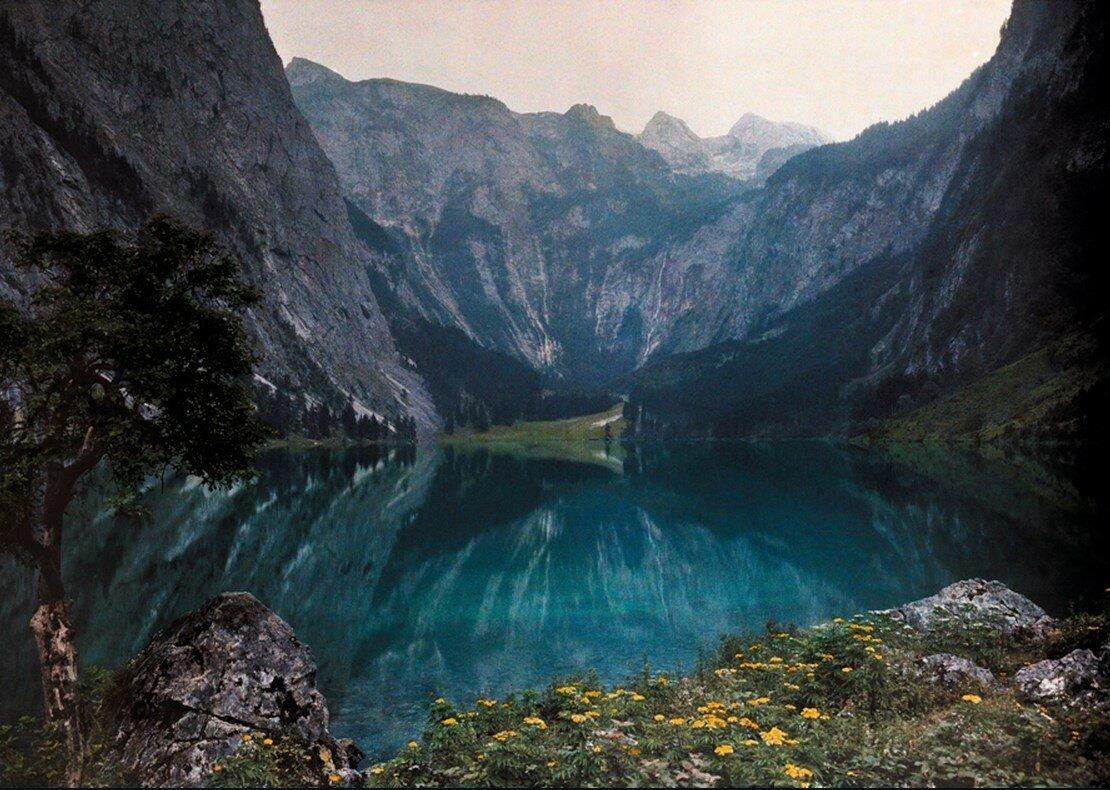 1928. Германия. Это ледниковое озеро находится в горах Баварии