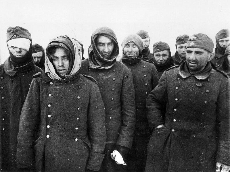 Пленные немцы в Сталинграде