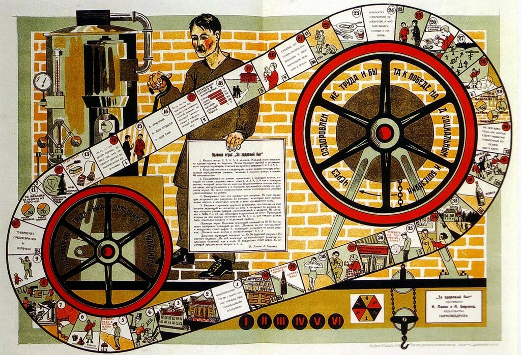 Soviet board game 'Healthy Living', 1926.jpg