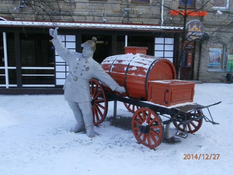 Скульптура Пожарный на ул. Кирова